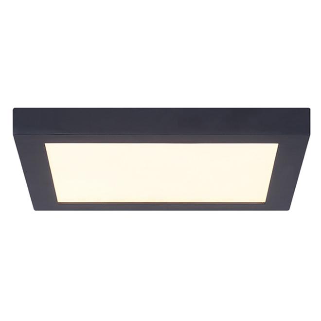 Canarm LED Flushmount Ceiling Light - Square - 15 W - 11-in - Metal/Acrylic - Matte Black