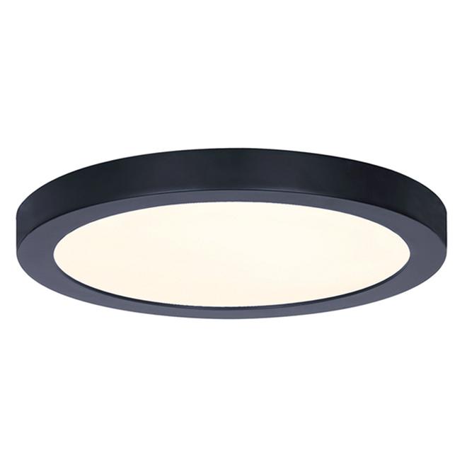 Plafonnier Canarm encastré DEL, rond, 15 W, 11 po, métal/acrylique, noir mat