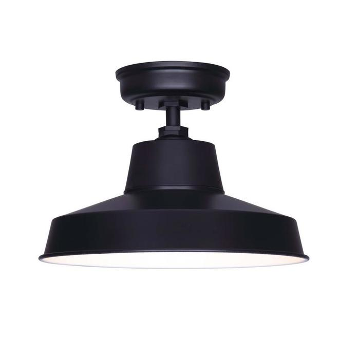 Canarm Mazu Modern Round Ceiling Light - 100-W - 14.25-in - Matte Black