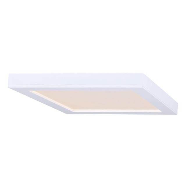 Plafonnier carré Canarm, DEL intégré, 18 W, 7 po, métal/acrylique, blanc