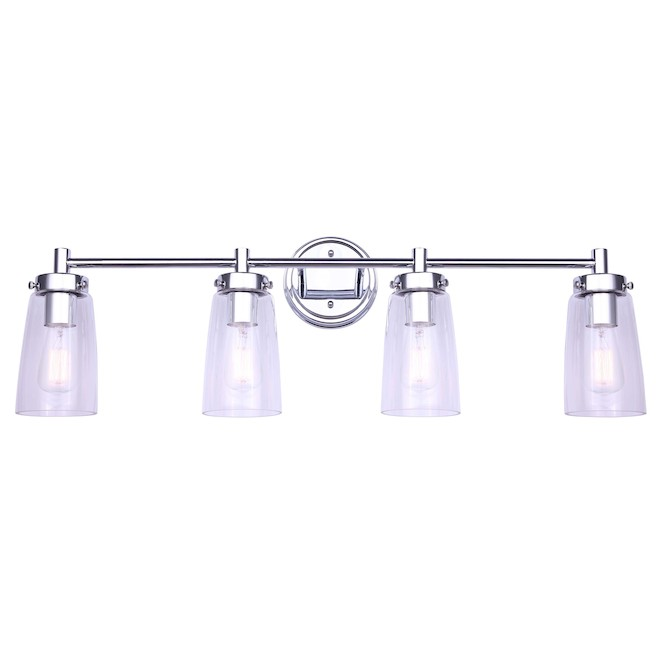 Canarm Dalroy Vanity Light - 4 Lights - Glass - Chrome