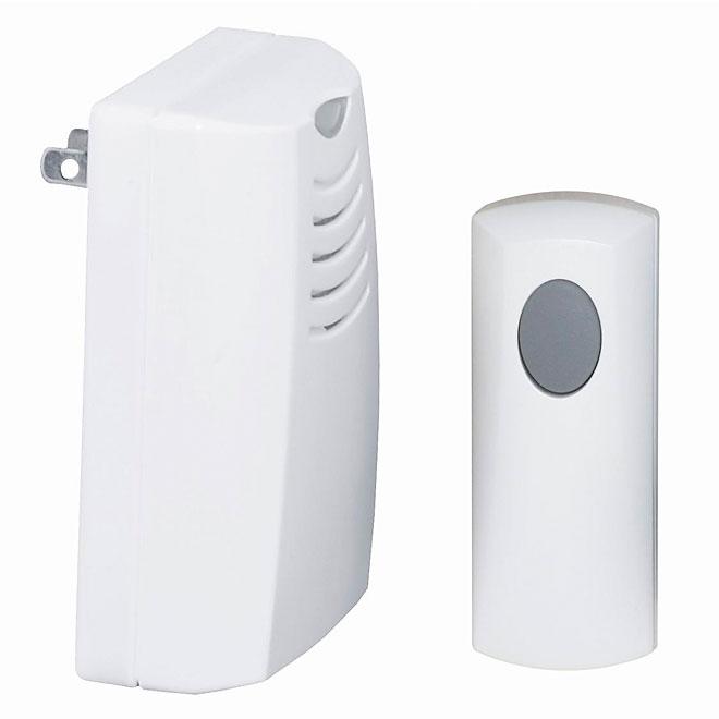 Wireless Plug-In Chime - 3 Tunes - White