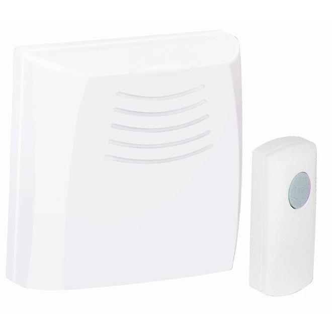 Wireless Portable Chime - 3 Tunes - White