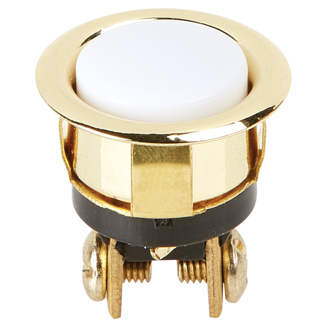 Door Chime Button - White/Gold