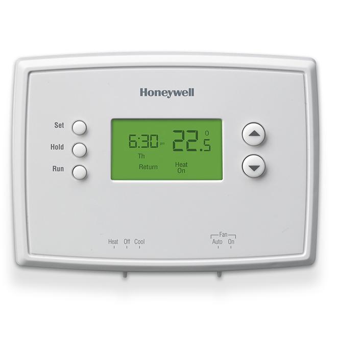 Thermostat numérique Honeywell, programmation 5-2 jours