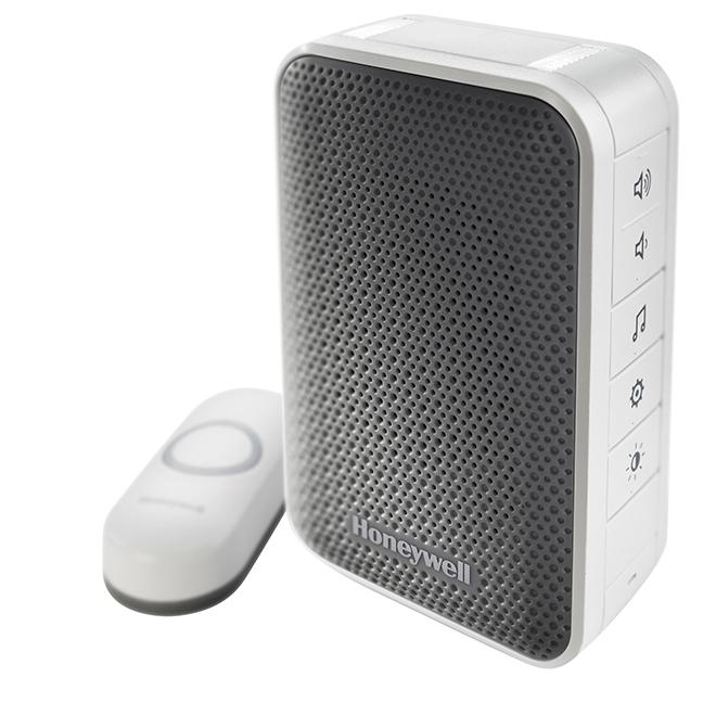 Strob Alert Doorbell - Plastic - Silver/Black