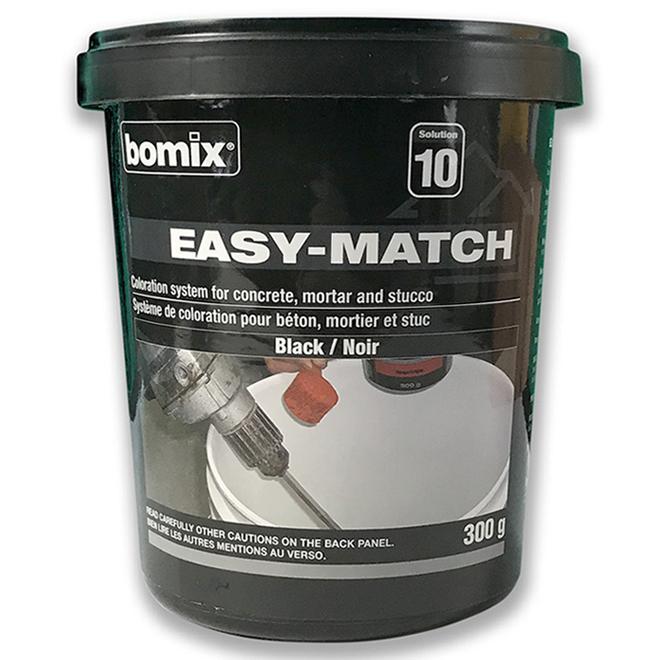 Colorant à ciment Bomix avec système de coloration Easy Match, 300 g, noir
