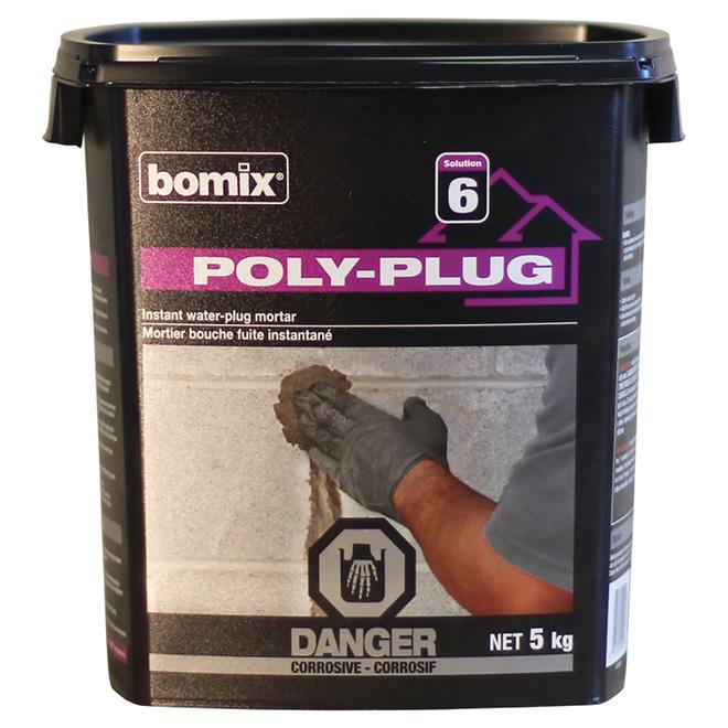 Ciment bouche-fuites instantané « Poly-Plug »
