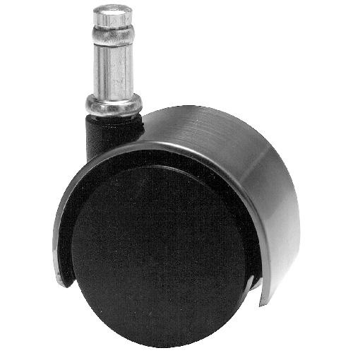 "Dual-Wheel Friction Grip Stem Caster - 77 lbs Cap. - 2"""