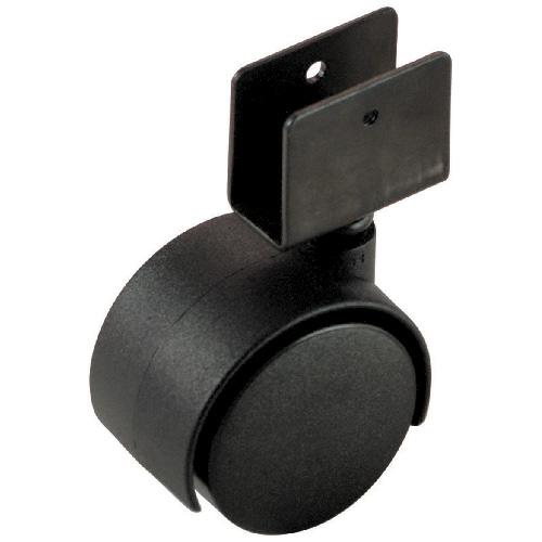 "Dual-Wheel U-Bracket Caster - 77 lbs Capacity - 2"""