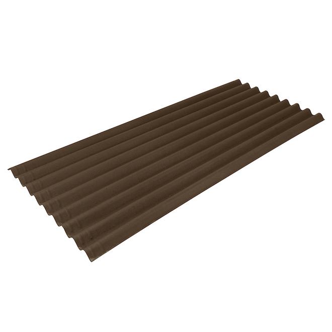 Ondura Premium9 Roof Panel - 34.5-in x 79-in - Asphalt - Brown