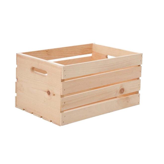 "Natural Pine Wooden Box - 17.5"" x 12.5"" x 9.5"""