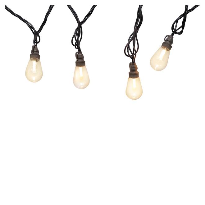 Jeu de 10 lumières DEL blanc chaud, Edison