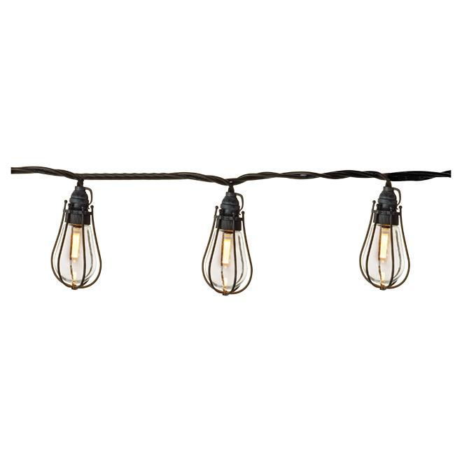 String Lights - 20 LED Lights Caged - Warm White