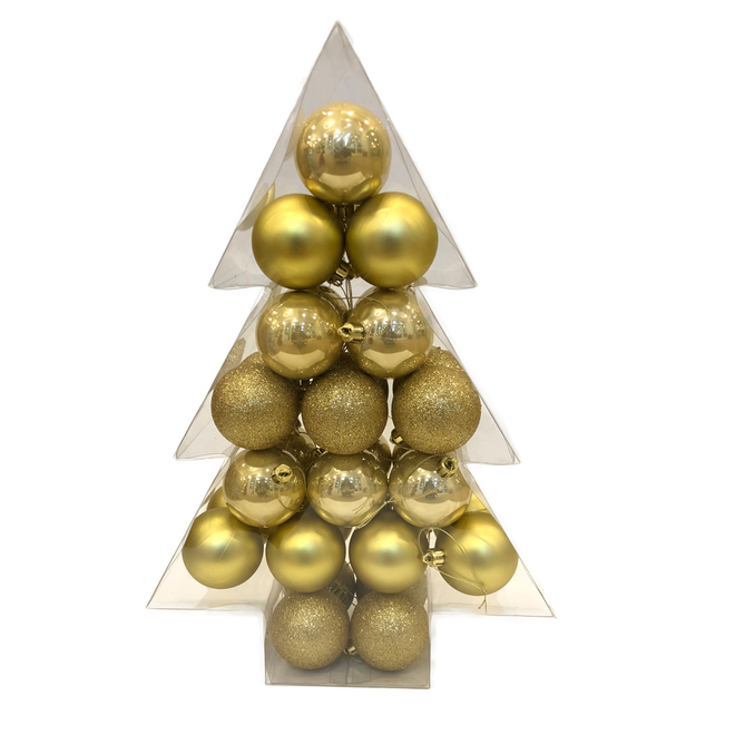 Christmas Ball Ornaments - Chill Factor Collection - Gold - 34/Pack