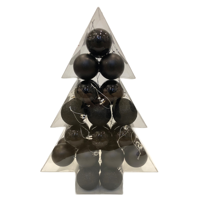 Holiday Living Christmas Balls - Friendly Forest - Black - 34/Pack