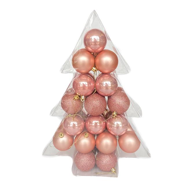 Holiday Living Christmas Balls - Snow Angel - Peach - 34/Pack