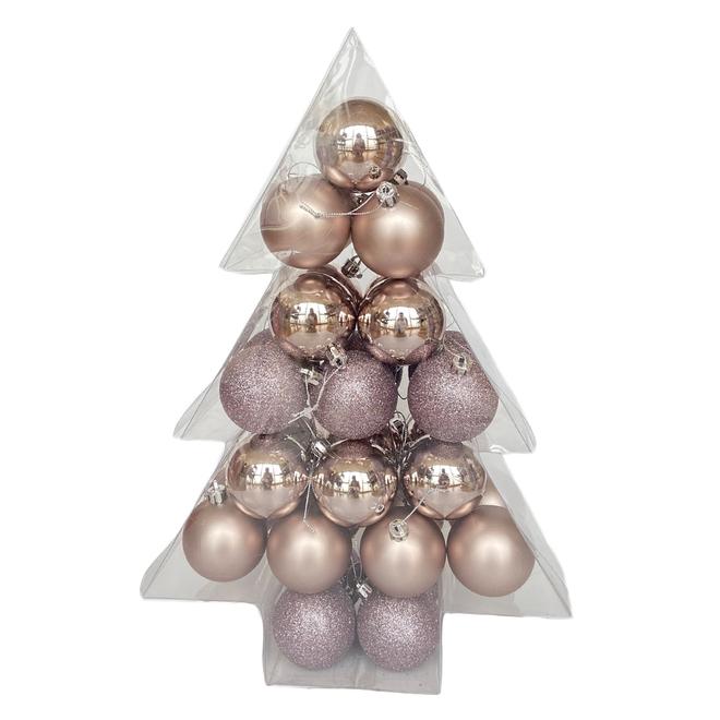 Boules de Noël Holiday Living, Palais des glaces, violet, 34/pqt