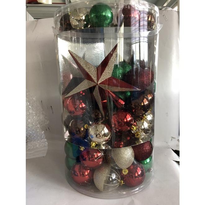 Boules de Noël mixtes Holiday Living, incassables, plastique, rouge/vert/or, paquet de 110