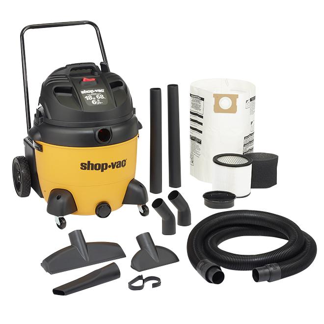 Wet and Dry Vacuum - 6.5 HP - 68L