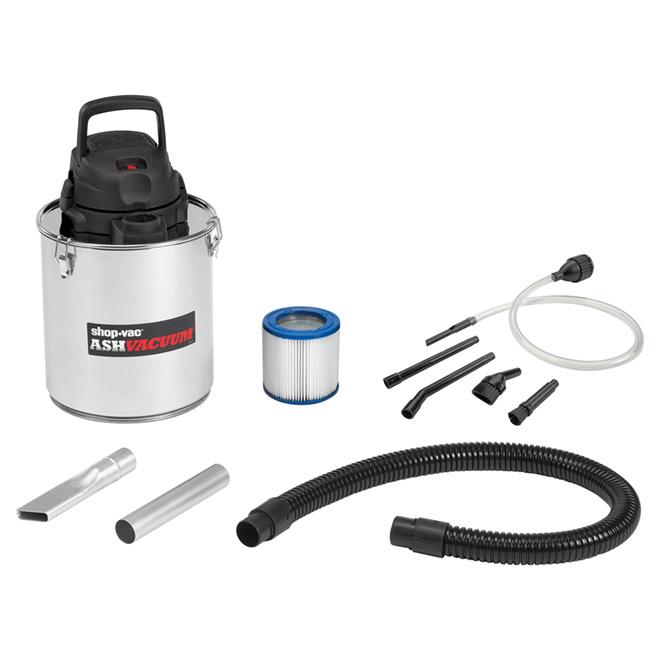 Aspirateur, cendre de foyer Shop-Vac, acier inoxydable, 5 gal