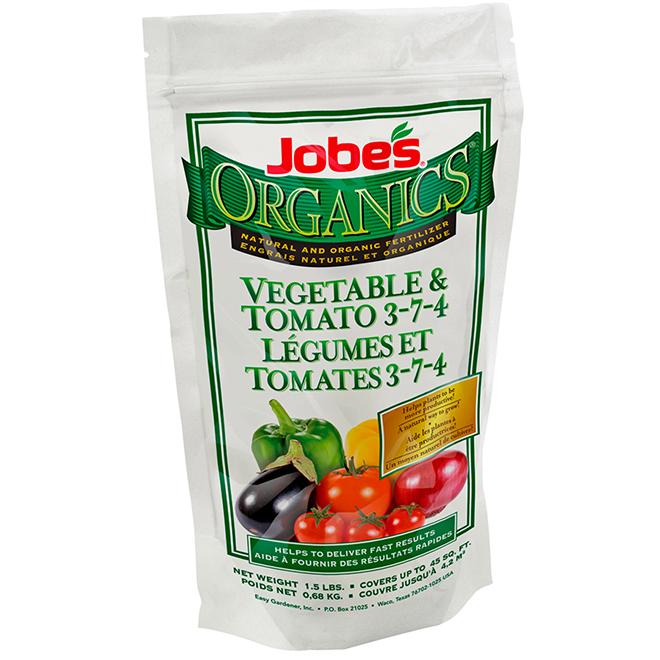 Engrais pour tomates et légumes Jobe's, 0,68 kg, 3-7-4 - 45 pi2