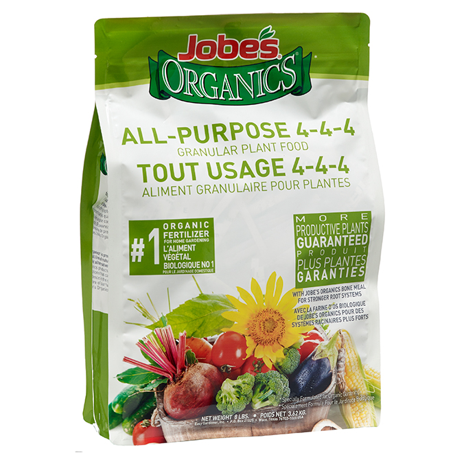 Jobe's All-Purpose Fertilizer - 4-4-4 Nutrient Ratio - Granular Plant Food - 8-lb Bag