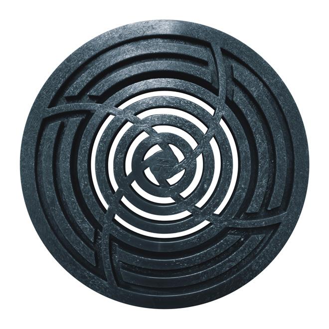 """Round Grate - 4"""" - Black"""