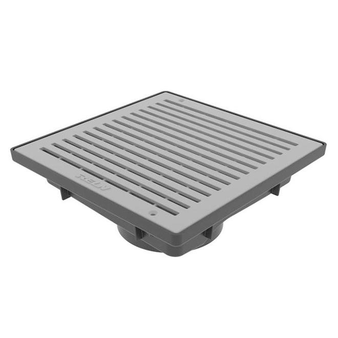 Reln Low Profile Catch Basin - Plastic - 9-in x 9-in - Grey