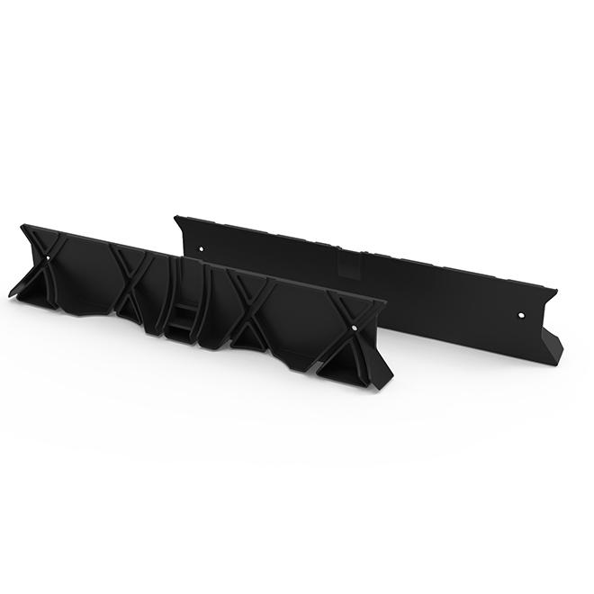 Trousse de joint de raccordement pour canal de drainage RELN, 2,5 po x 13,5 po, noir, paquet de 2