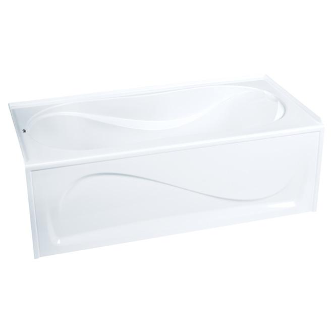 ''Cocoon'' Acrylic Bathtub - Left - 30 x 21 x 60'' - White