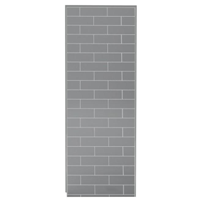 "UTile Shower Wall Panel - Metro - Ash Grey - 32 1/2"""