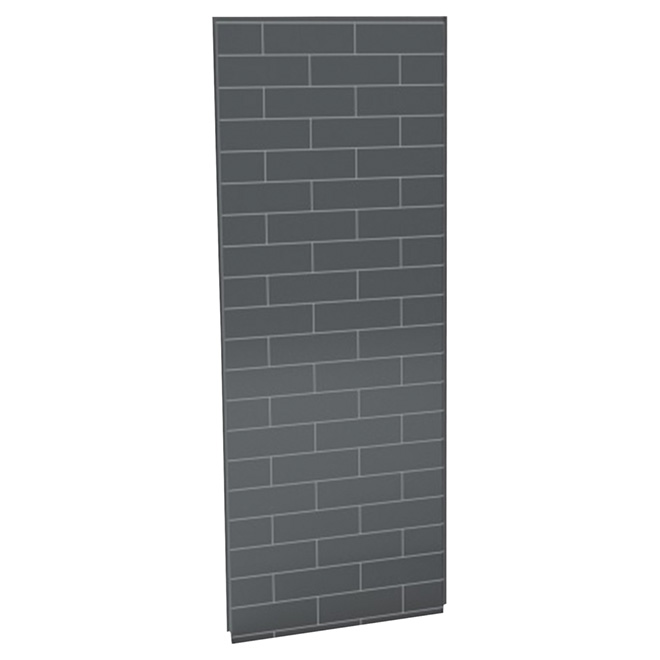 Maax Utile Shower Wall - Back Panel - 48-in x 80-in - Composite - Metro - Thunder Grey