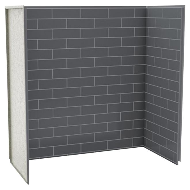 "Shower Wall - 61 1/4"" x 61 1/8"" x 30"" - Thunder Grey"