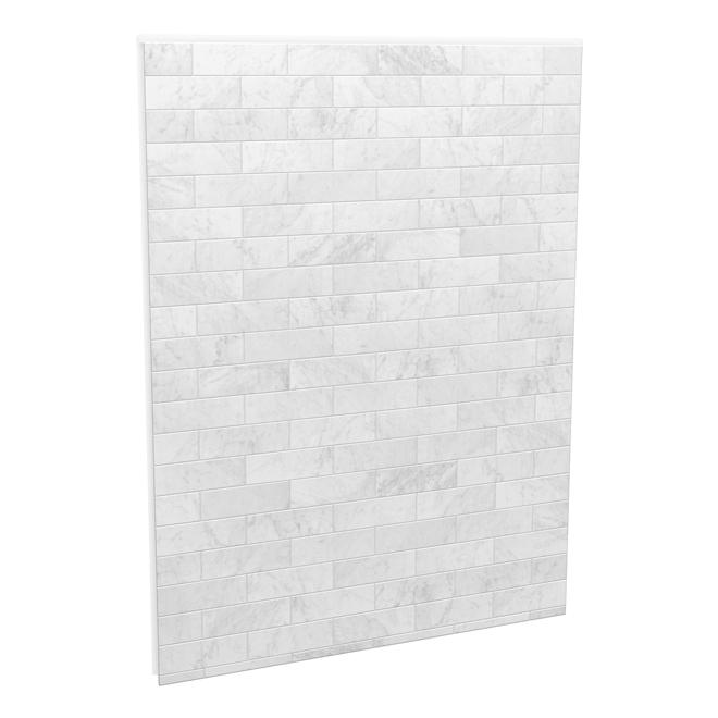 """Panneau de fond pour mur de douche Utile, 60"""" x 80"""", Carrara"""