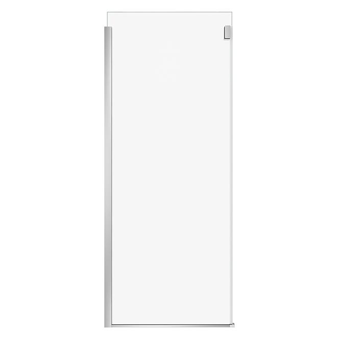 "Shower Glass Panel - 32"" X 74"" - Chrome Finish"
