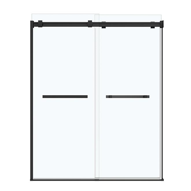 Porte de douche Duel Maax, 60'' x 74'', noir mat