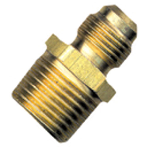 "Flare Union - Brass - 3/8"" x 1/2"" - Flare x MIP Half"