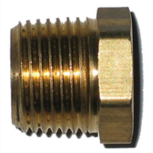 "Hex Bushing - Brass - 1/2"" x 3/8"" - MIP x FIP"