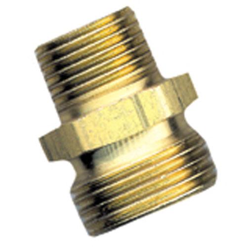 """Connecteur de boyau, laiton, 3/4"""" x 1/2"""", mâle x MIP"""