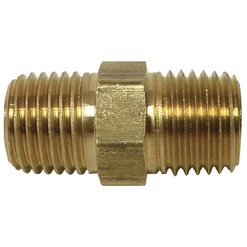 "Nipple - Brass - 1/4"" - MIP x MIP"