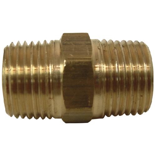 "Nipple - Brass - 3/8"" - MIP x MIP"