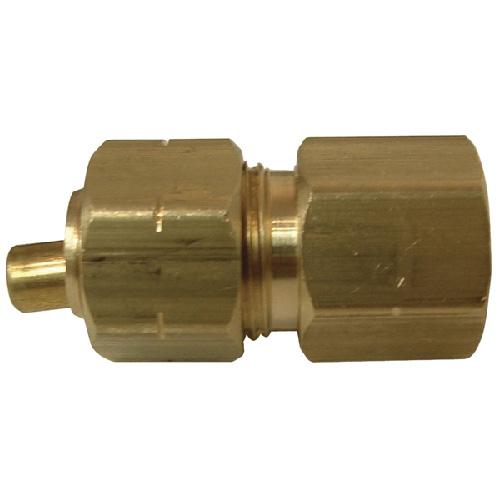 "Coupling - Brass - 1/4"" x 1/4"" - Tube x FIP"