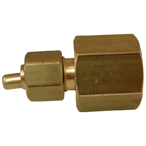 "Coupling - Brass - 1/4"" x 1/2"" - Tube x FIP"
