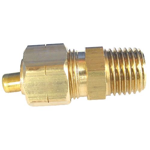 "Union - Brass - 1/4"" x 3/8"" - Tube x MIP"