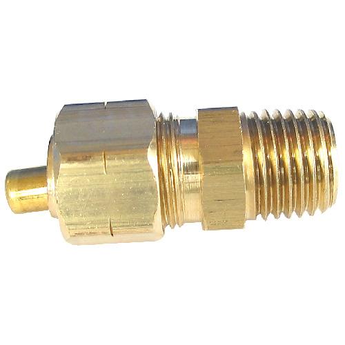 "Union - Brass - 1/4"" x 1/2"" - Tube x MIP"