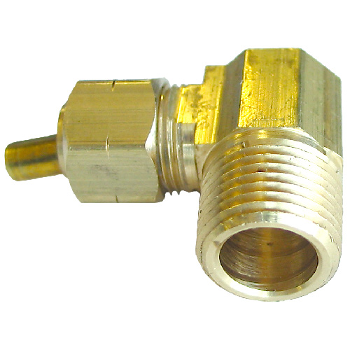 "Elbow - Brass - 90° - 1/4"" x 1/4"" - Tube x MIP"