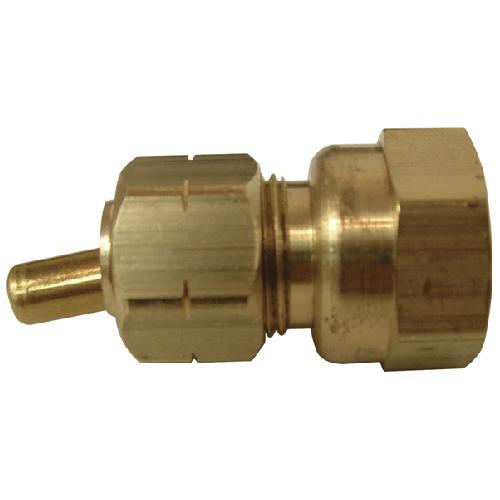 "Coupling - Brass - 3/8"" x 3/8"" - Tube x FIP"