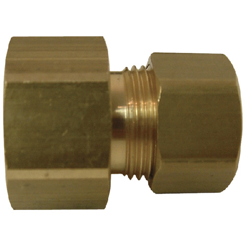 "Coupling - Brass - 3/8"" x 1/2"" - Female x Tube"