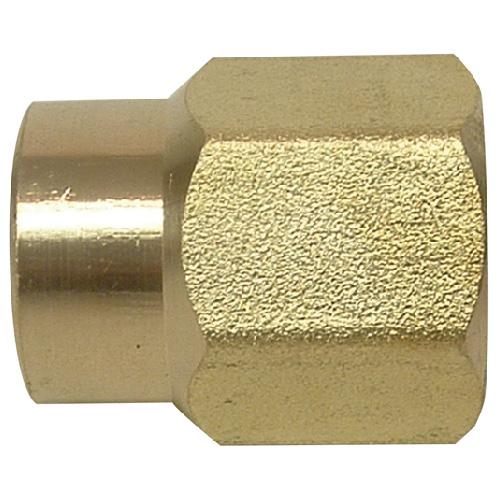 """Reducer Coupling - Brass - 1/4"""" x 1/8"""" - FIP x FIP"""